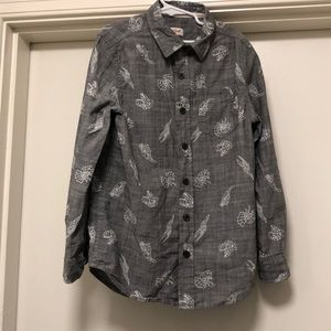 Cat and Jack long sleeve button down shirt